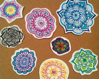 Mandala Sticker Pack // Assorted Colours