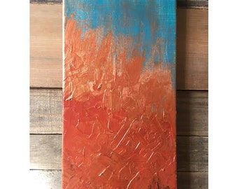 Teal and Copper Abstract 2