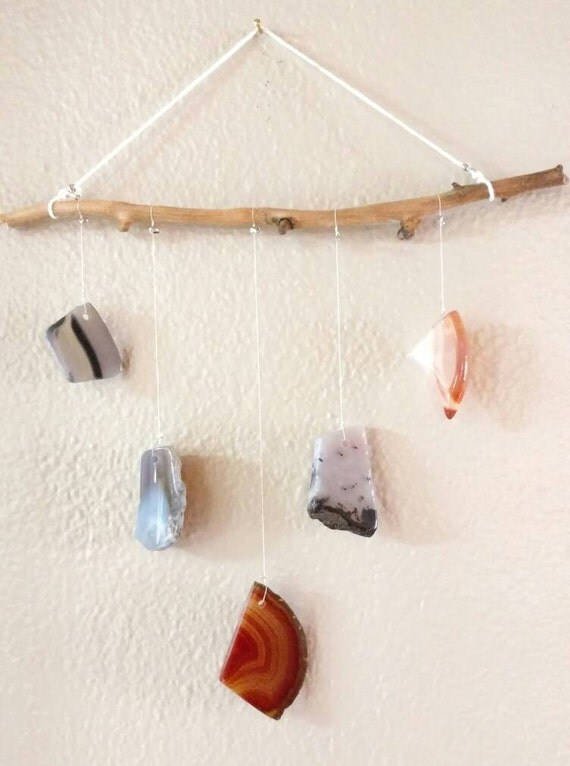 agate geode sun catcher home decor wall hanging. Black Bedroom Furniture Sets. Home Design Ideas