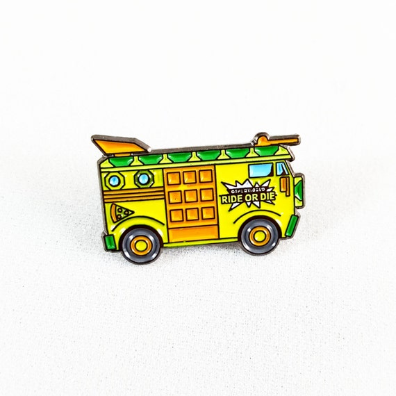 TMNT Party Wagon lapel pin