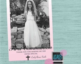 First Communion Thank You 5x7 or 4x6