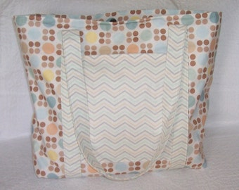 Dots and Waves Tote - Large