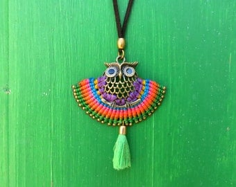 OWL necklace OWL pendant necklace fashion tendence craft is unique model hand