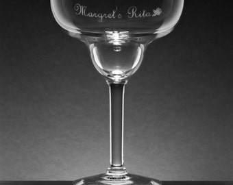 Personalized Engraved Margarita Glass 14.75 oz. We Accept ANY logo / text