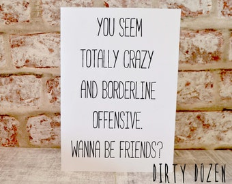 Funny insult card