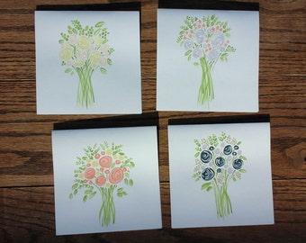 Flower Bouquet Card Set