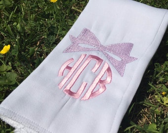 Monogrammed Baby Burp Cloth