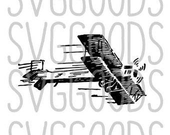 Plane SVG, Biplane SVG, Propeller Plane SVG, pilot svg, Prop plane svg, flying svg, flight svg, commercial svg, cricut, silhouette, clipart