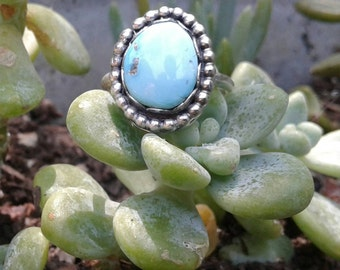 Sterling silver Sleeping beauty turquoise ring size 7