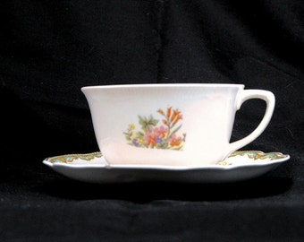 Meadowsweet Teacup by Old Staffordshire by Johnson Brothers, England