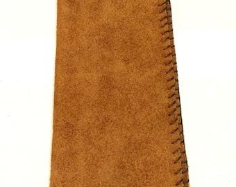 Handmade suede wallet