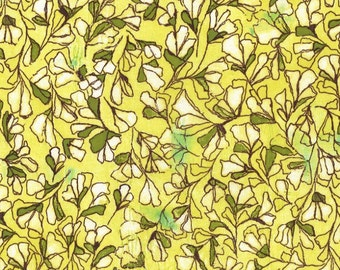 Scattered Buds in Yellow by Michael Miller