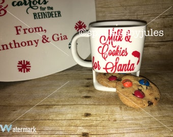 Cookie mug ! Milk & cookies for Santa ! Personalized w anything you want !