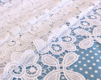 On sale! White Lace Fabric, Lace Fabric,  Lace Fabric , Wedding Gown Lace, Lace dress fabric lace tote fabric lace  bedding