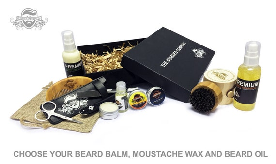 essential grooming kit xl box beard balm oil by. Black Bedroom Furniture Sets. Home Design Ideas