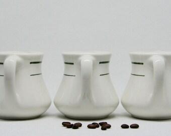 Vintage Buffalo China Restaurant Ware Green Stripe Milk Pitcher/Creamer — 2 Available