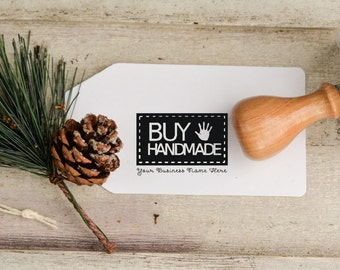 Buy Hand Made Stamp + Your Business Name Below. Choose Any font.