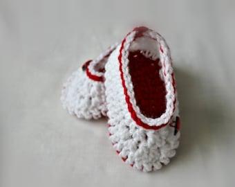 Crochet Ladybird Baby Shoes