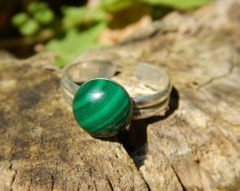 Ring Malachite & 925 Silver