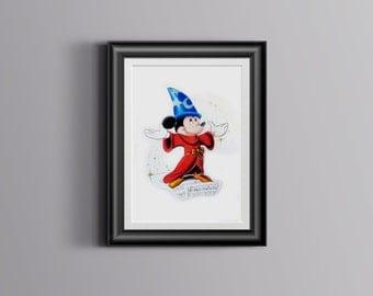 Mickey in fantasia