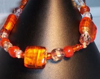 Orange Dichroic Glass
