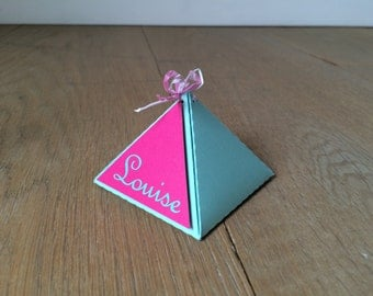 Nice and customized candy box for birth announcement, party present, wedding or birthday gift