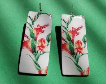 Aluminum earrings flower fantasy