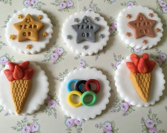 Olympics #8 Cupcake & Cake Toppers