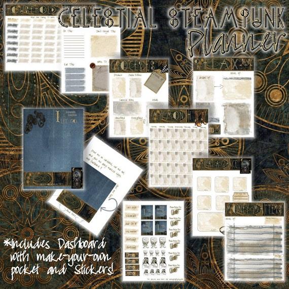 Celestial Steampunk Planner