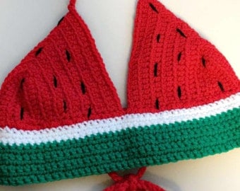 Watermelon Crochet Crop Top