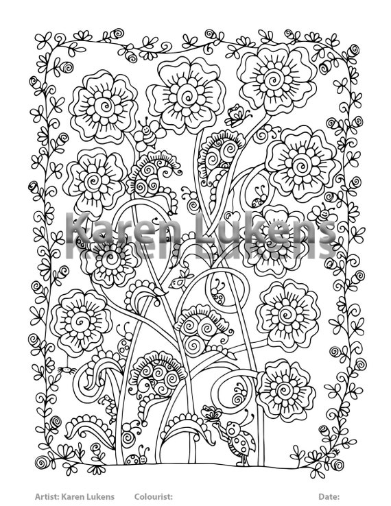 whimsical flowers coloring pages - photo#7