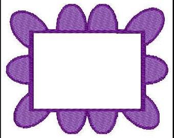 Fill Embroidery Design, Rectangle Monogram Frame, File, Digital, Download, Machine