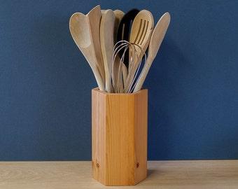 Antique Pine Utensil Pot - Utensil Holder - Utensil Jar - Sold Singly Or In Sets