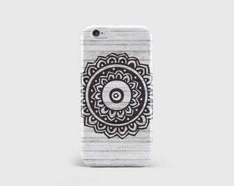 Mandala Stamp iPhone Case, Wood Effect, Wood Print, Henna Print, Tribal Print, Phone Case Cover, iPhone 7 iPhone 6 iPhone 5 \ hc-pp103