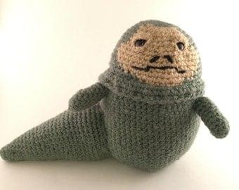 Jabba The Hutt Amigurumi Crocheted Doll