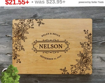SALE! Personalized Wedding Guest Book, Guest book Wedding, Guest Book, Guestbook, Personalized Wedding Gift, Custom Guest Book, Rustic We...