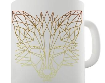 Geometric Fox Ceramic Novelty Gift Mug