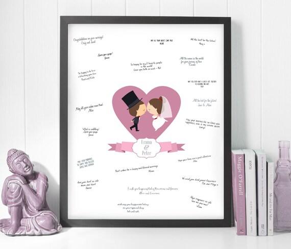modern guest book ideas, guestbook sign heart, wedding sign frame ...