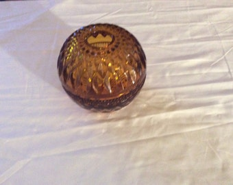 Shabby Chic Amber a Brown  Candle Holder