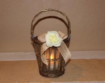 Rustic Wedding Candle Holder / Rustic Wedding Decor / Rustic Wedding Table Decor