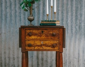 antique drop leaf side table