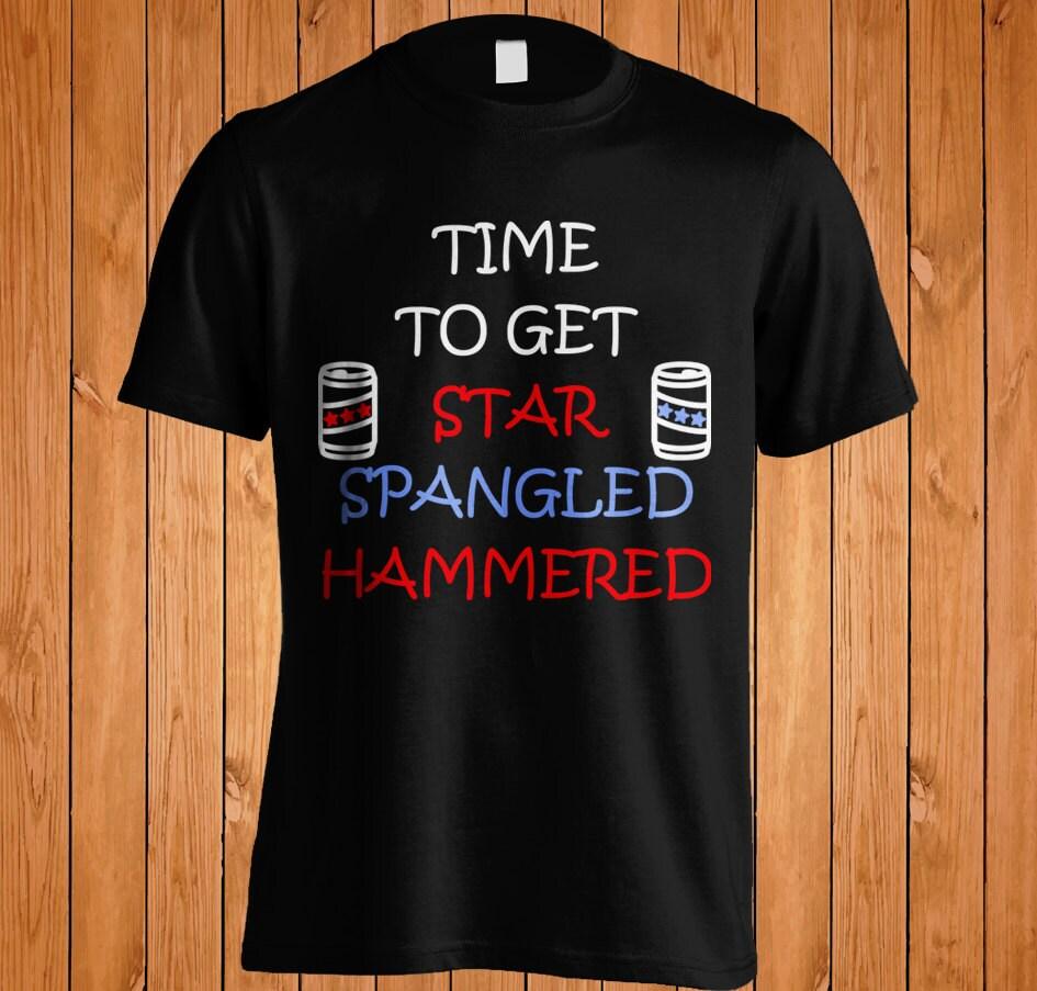 Star Spangled Hammered Tshirt Tee Shirt Funny Merica