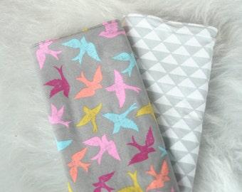 Sparrow Burp Cloth Set | Ready to Ship | Bird Burp Cloth | Burp Rags | Burp Cloth Set | Girl Burp Cloth Set