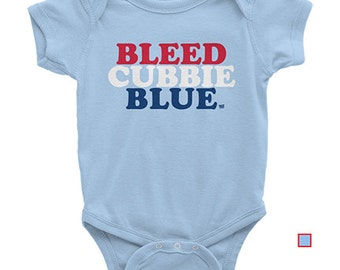 Baby - Bleed Cubbie Blue - Chicago Cubs One-piece
