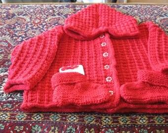 0 - 3 months  Pure Wool Hoodie