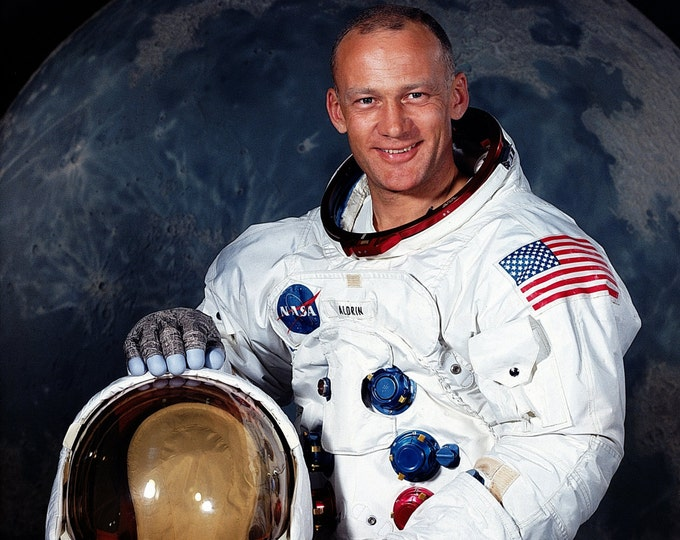 "Edwin ""Buzz"" Aldrin Apollo 11 Astronaut Lunar Module Pilot - 5X7, 8X10 or 11X14 NASA Photo (EP-507)"