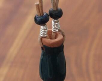 Mini Clay Pot Essential Oil Diffuser/Necklace, Teal