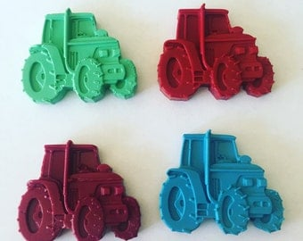 Set if 4 tractor crayons