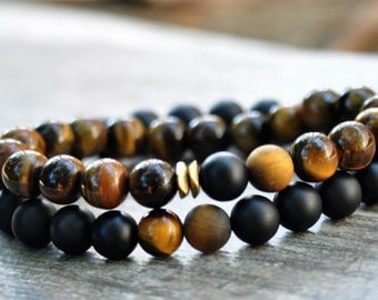 Anniversary Gift For Wife Gifts Boyfriend Gifts Tiger Eye Bracelet Afrocentric Jewelry Boho Bracelet Mens Gift For Couples Bracelet Set