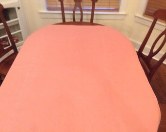 100% Linen Table Cloth/Coral Pink